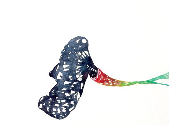 The Void, 24 x 32 cm, Aquarellfarbe auf Papier, Susanne Renner, 2019