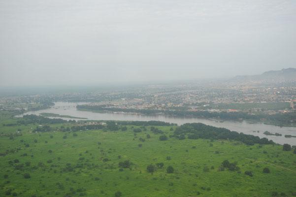 Anflug auf Juba