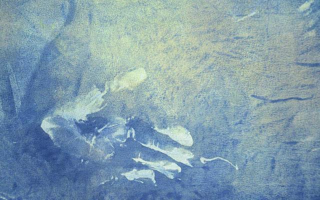 Ausschnitt aus hingabe  190x139 Fr. 4000.-, farbreise.ch, Seidenwerk, furchtlos, Marianne Iten Thürig, Cham