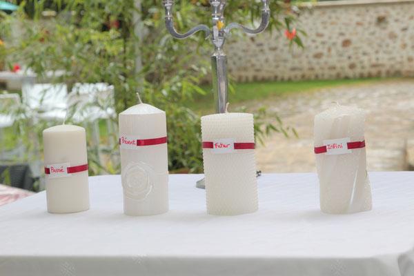 Cérémonie laïque de mariage by Charlotte Vilain rituel des 4 bougies