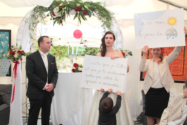 Cérémonie laïque de mariage by Charlotte Vilain voeux de mariage