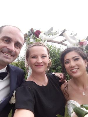 Le Selfie des marié, Cérémonié laïque de mariage Charlotte Vilain