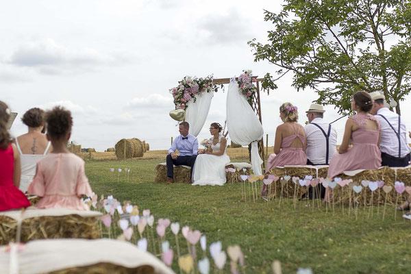 mariage champètre chic cérémonie laïque - crédit photo: David Loucas