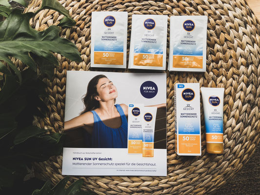 Nivea Sun UV Gesicht Produkttest - Das Testpaket