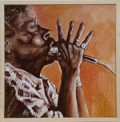 Bluesharpplayer - 60 x 60 cm - acryl on canvas
