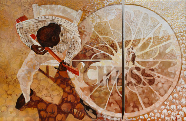 Delta Blues - 143 x 81 cm - oil with sandstructure on canvas