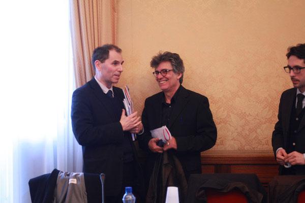 Bruno Abd al-Haqq Ismaïl Guiderdoni, Directeur de l'IHEI et Ofer Bronchteïn, Président du Forum pour la Paix