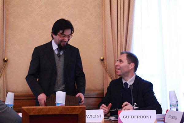Yahyâ Pallavicini, Président de l'IHEI et Bruno Abd al-Haqq Ismaïl Guiderdoni, Directeur de l'IHEI