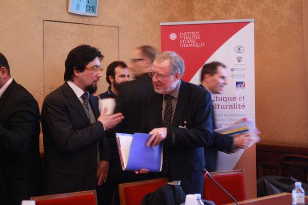 Yahyâ Pallavicini, Président de l'IHEI et Bernard Jarry-Lacombe, secrétaire national de la CFDT cadres