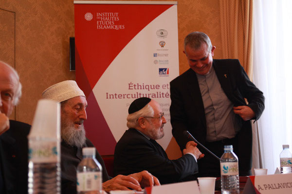 Le Rabbin Alain Goldmann, ancien Grand Rabbin de Paris et Père Christophe Roucou, Secrétaire pour les relations avec l'islam