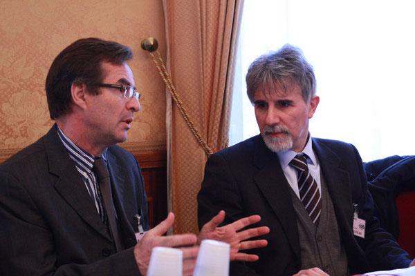 Xavier du Crest, ancien président Rhône-Alpes des EDC et Abd as-Sabur Turrini, secrétaire général de la COREIS italienne