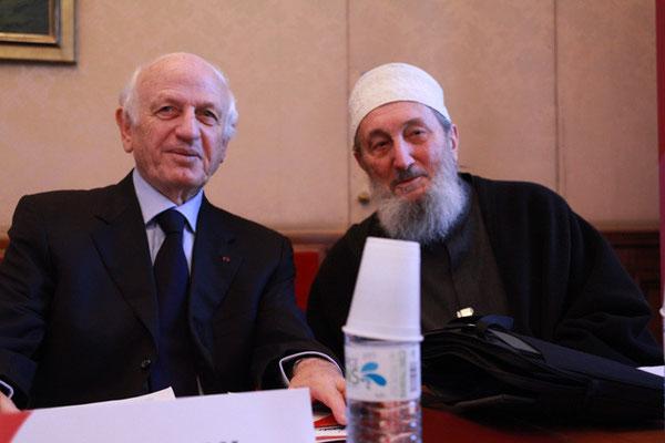 S E André Azoulay, Conseiller du Roi du Maroc, Président de Anna Lindh et le Shaykh Abd al-Wahid Pallavicini, Président d'honneur de l'IHEI et Président de la COREIS italienne