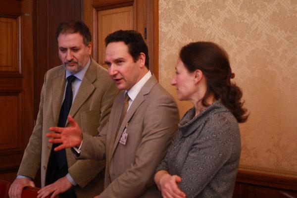 Walter Ahmad Abd al-Qouddous Panetta, membre de la COREIS italienne, Gilles Abd ar-Rahmân Gastou, Farah Le Signor, membres de l'IHEI