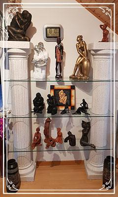 Afrika Figuren Regal Säule Dekoartikel Akt Aktfiguren Buddha