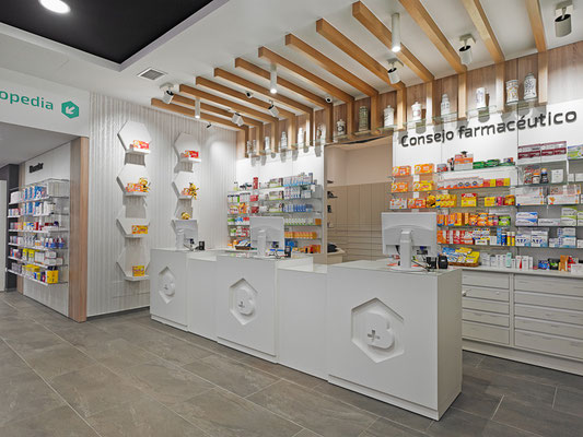 Diseño, proyecto y reforma farmacia Jaime Batallán - A Coruña- Galicia