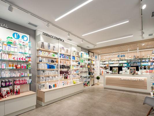 Diseño, proyecto y reforma farmacia Aduriz-  A Coruña - Galicia