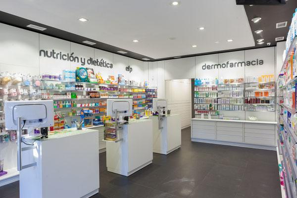 Diseño, proyecto y reforma farmacia Terrón - Ponferrada Galicia