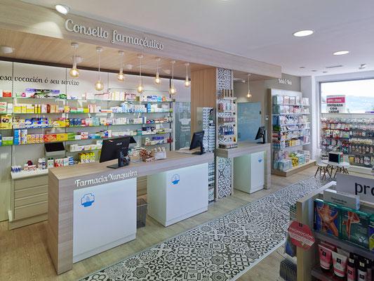 Diseño, proyecto y reforma farmacia Xunqueira -  Moaña - Galicia