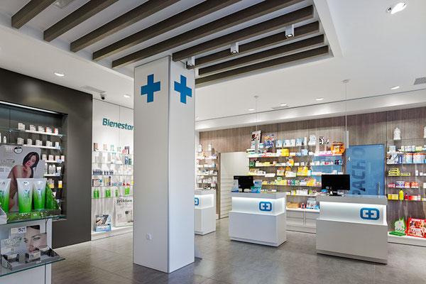 Diseño, proyecto y reforma farmacia Torrecedeira - Vigo Galicia
