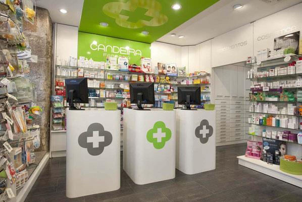 Diseño, proyecto y reforma farmacia Candeira - Ponteareas / Pontevedra Galicia