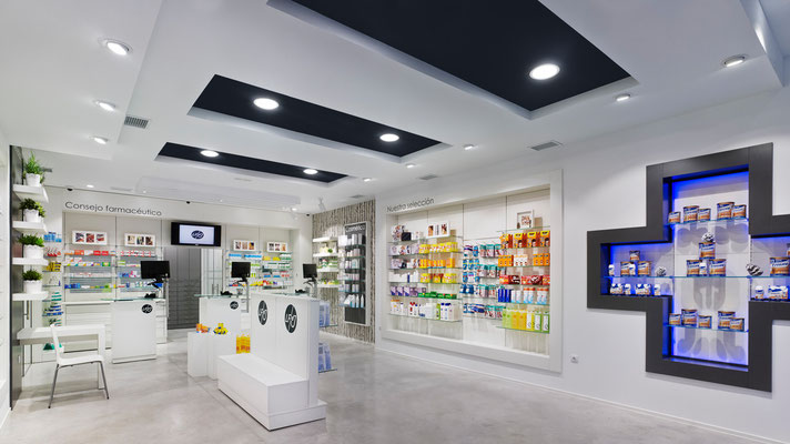 Diseño, proyecto y reforma farmacia de Jesus - A Coruña Galicia