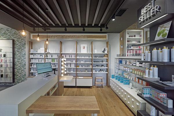 Diseño, proyecto y reforma farmacia Albarelo-  Orense- Galicia
