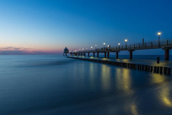 Magie der Blauen Stunde - Seebrücke Zingst