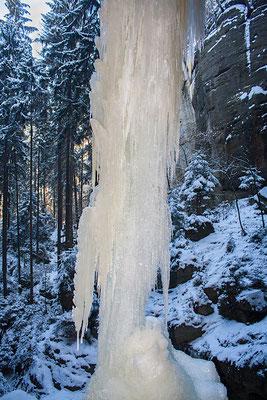 Großer Eiszapfen - Gautschgrotte - Bärengarten - Hohnstein