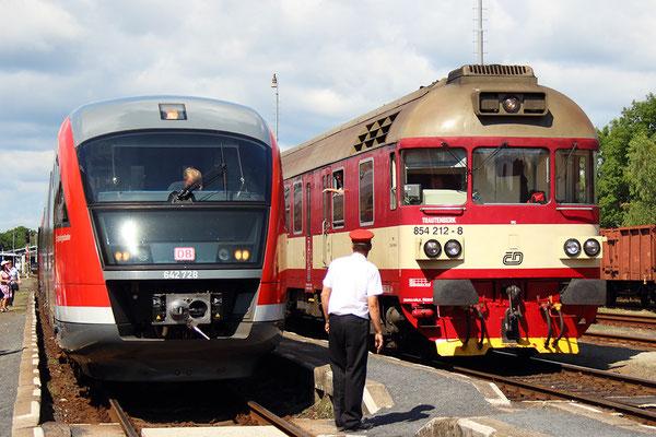 Hochbetrieb im Bahnhof Rumburk