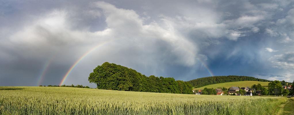 Rugiswalde unterm Regenbogen