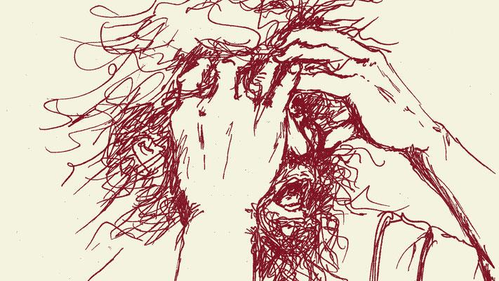 Abrahams Gewahren, Zeichung von Yv Mär