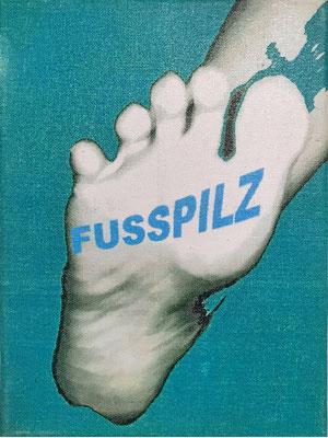 """Fusspilz"" - Digital Print auf Leinwand 18x24cm  2003"