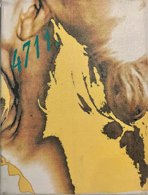"""""""4711"""" - Digital Print auf Leinwand 18x24cm  2003"""
