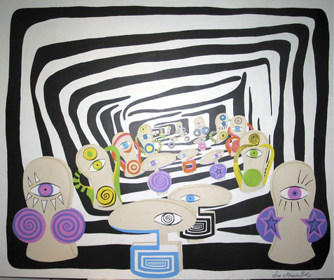 """come on it`s such a joy"" - acryl auf mdf 110x120cm"