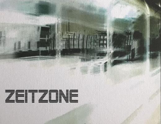 """""""Zeitzone"""" Digital Print auf Holzkörper -  25x20x4,5cm  2004"""