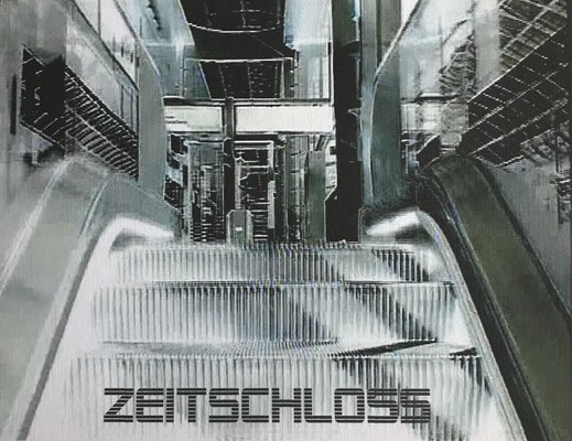 """""""Zeitschloss"""" Digital Print auf Holzkörper - 25x20x4,5cm  2004"""
