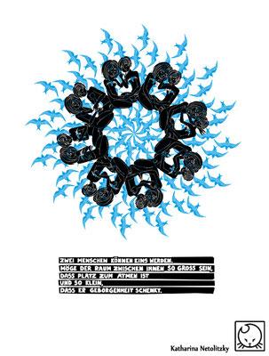"""""""Blaue Flecken"""" - Für ein Projekt, organisiert von Stundenten der Hochschule Augsburg. Copyright Text: Veronika Raila"""