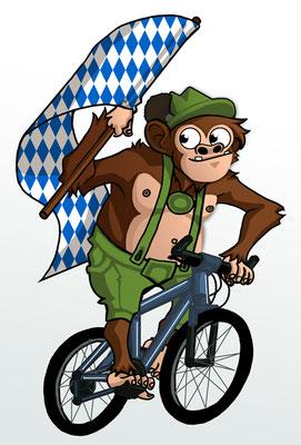 """""""Bavarian Monkey"""" - Entwurf für ein Maskottchen"""