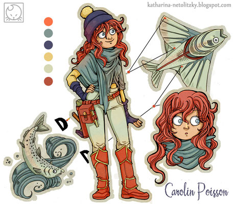 """Carolin Poisson"" - Character Design for a competition."