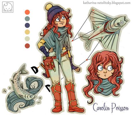 """""""Carolin Poisson"""" - Charakterdesign für einen Wettbewerb"""