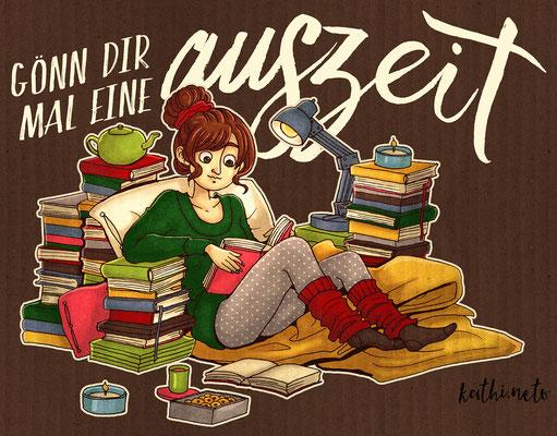 """""""Auszeit"""" - Freie Illustration"""