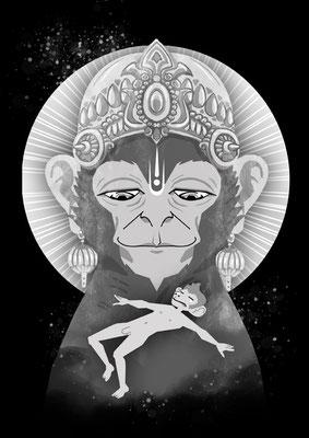 "Hanuman" - Fanart für den Webcomic "Hanuman"