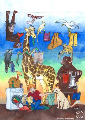 """""""Wäsche"""" - Freie Illustration"""