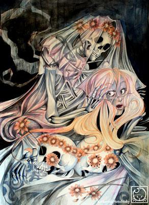 """""""Die Braut"""" - Freie Illustration"""
