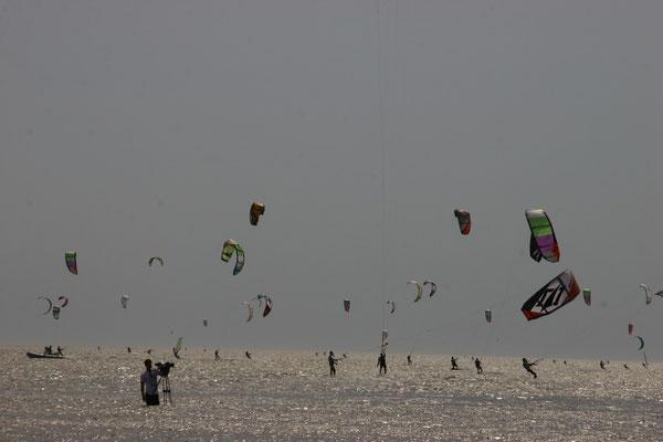 Strand und Kiten in Sankt-Peter Ording