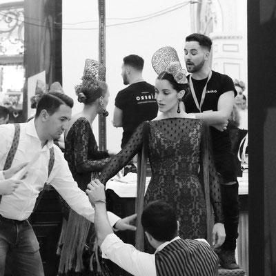Pasarela We Love Flamenco 2017, backstage.