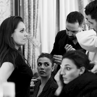 Pasarela We Love Flamenco 2017, backstage.
