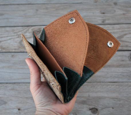 portefeuille en cuir artisanal May Wook