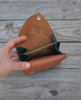 portefeuille en cuir homme fait main May Wook