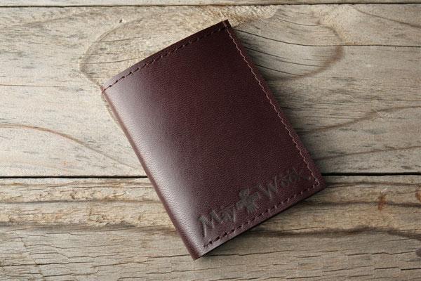 Porte-cartes en cuir May Wook
